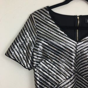NWT Lulu's Sequined Short Sleeve Mini Dress Medium